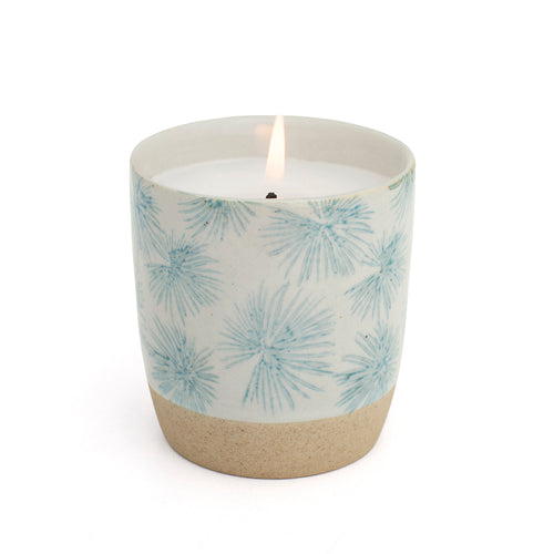 Blue Palm Candle