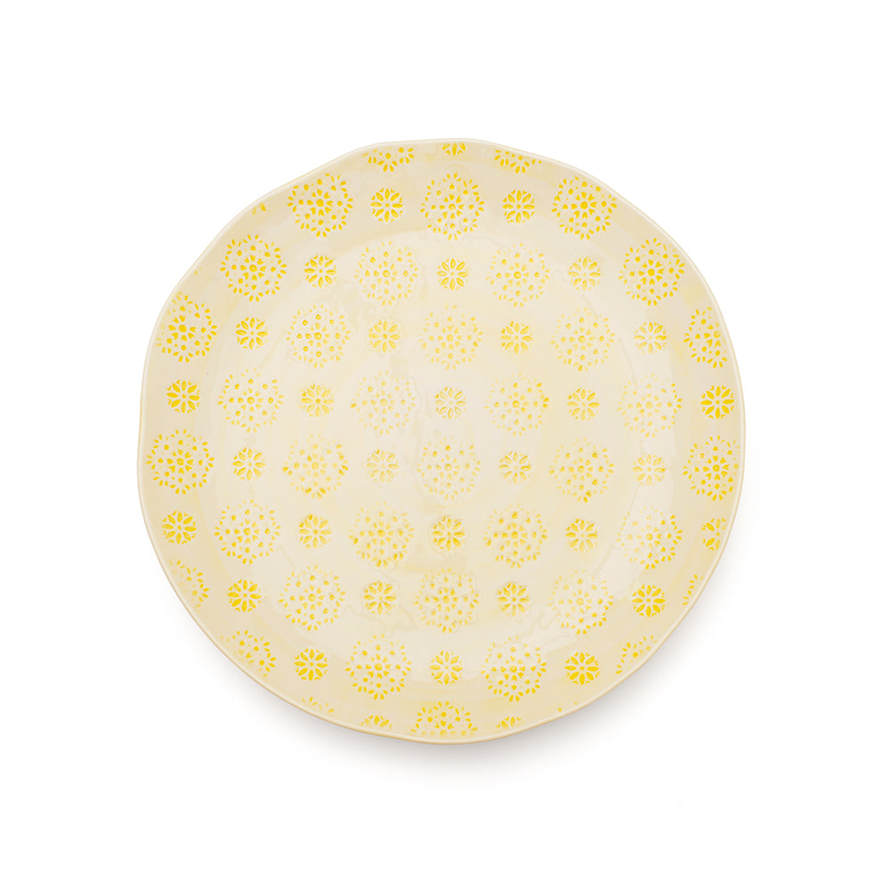 Dinner Plate - Yellow Lace