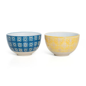 Small Blue Yellow Bowls