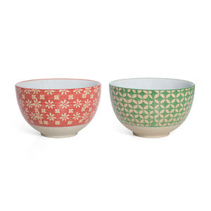Small Green Red Bowls