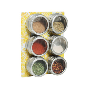 Spice Rack Set - Yellow Palm