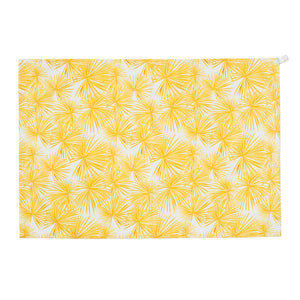 Tea Towel Set - Blue/Yellow Palm