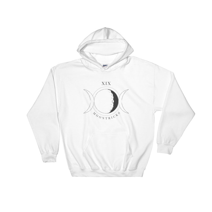 Moons XIX White Hooded Sweatshirt
