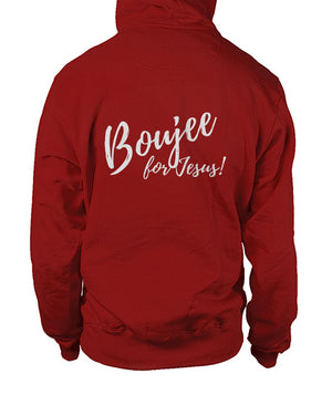 Boujee for Jesus! Hoodie - Silver Lettering