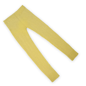 Naturally dyed, yellow, RIB 3x1 seamless bottoms