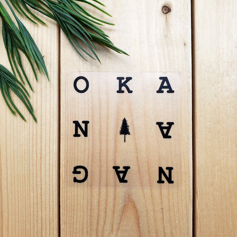 Okanagan (Transparent) Sticker
