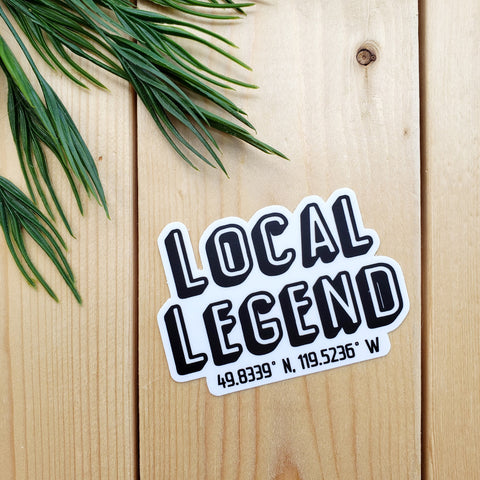Local Legend (Okanagan Coordinates) Sticker
