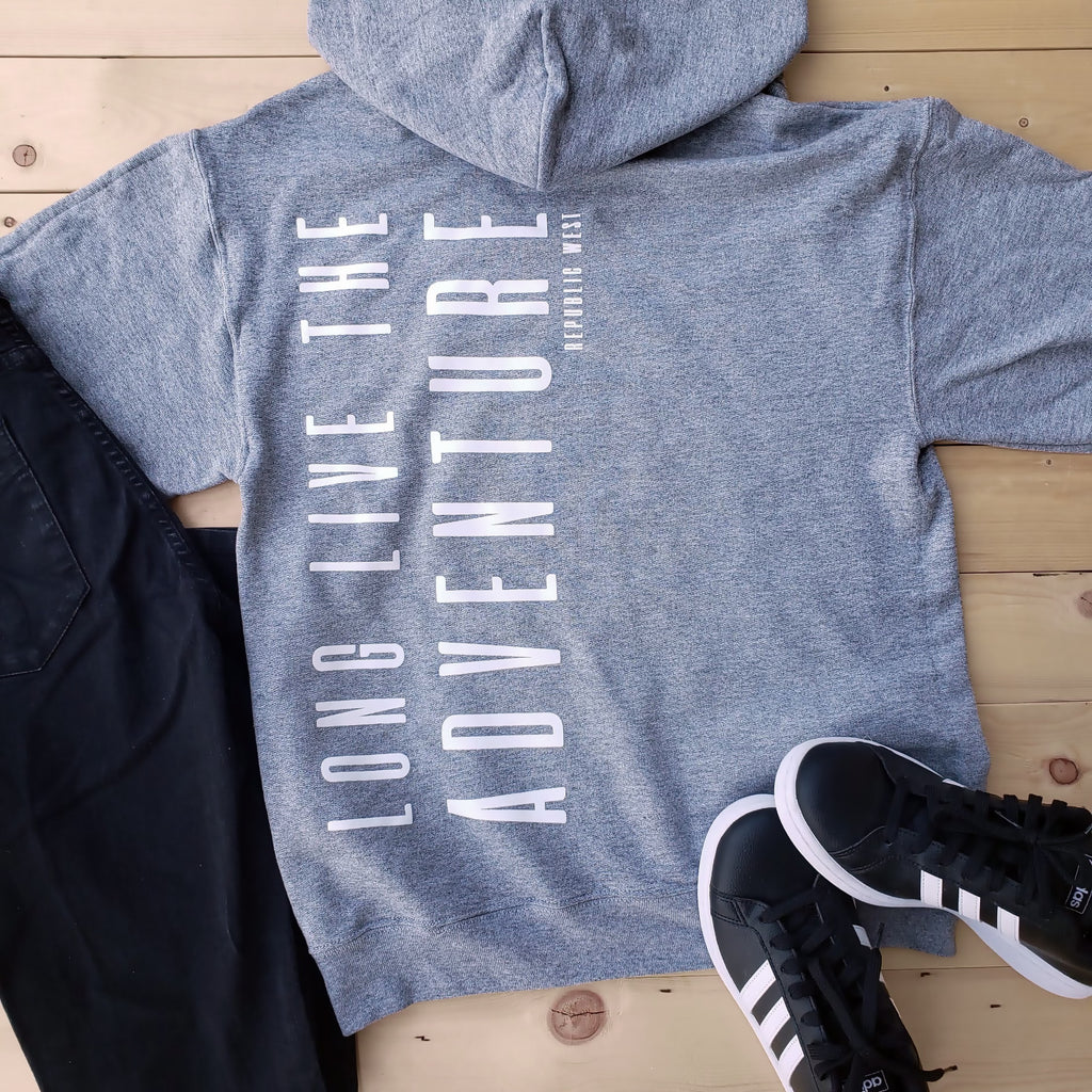 Long Live The Adventure Hoodie - Light Grey