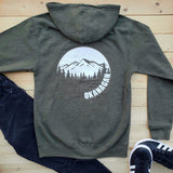 Okanagan Moon Zip Up Hoodie - Army Green