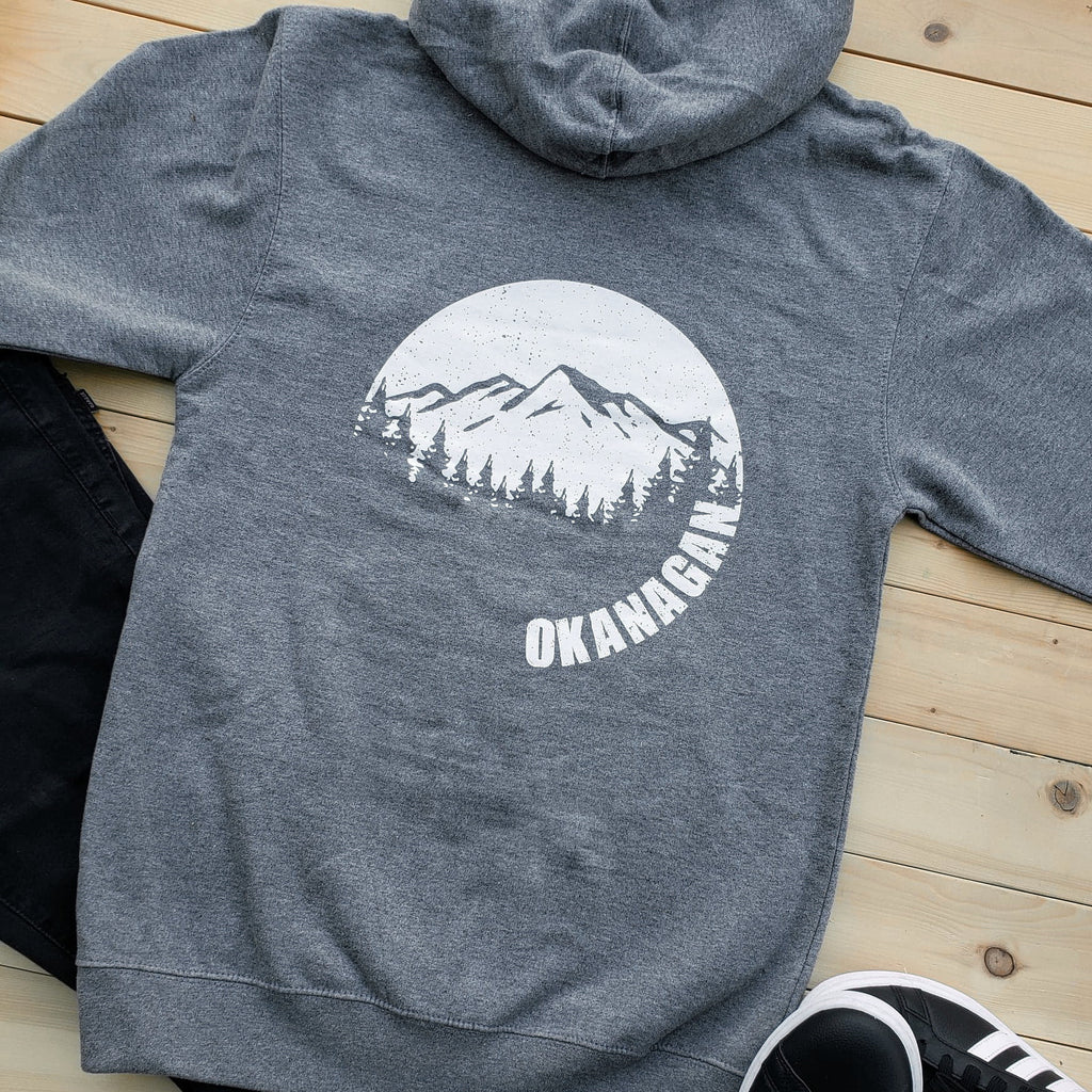 Okanagan Moon Zip Up Hoodie - Grey