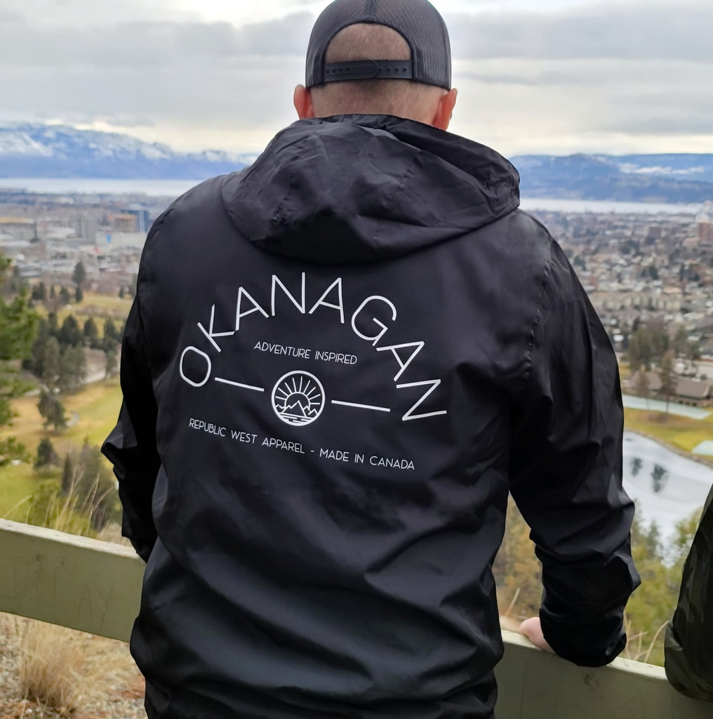 Okanagan Classic Lightweight Windbreaker Jacket - Black