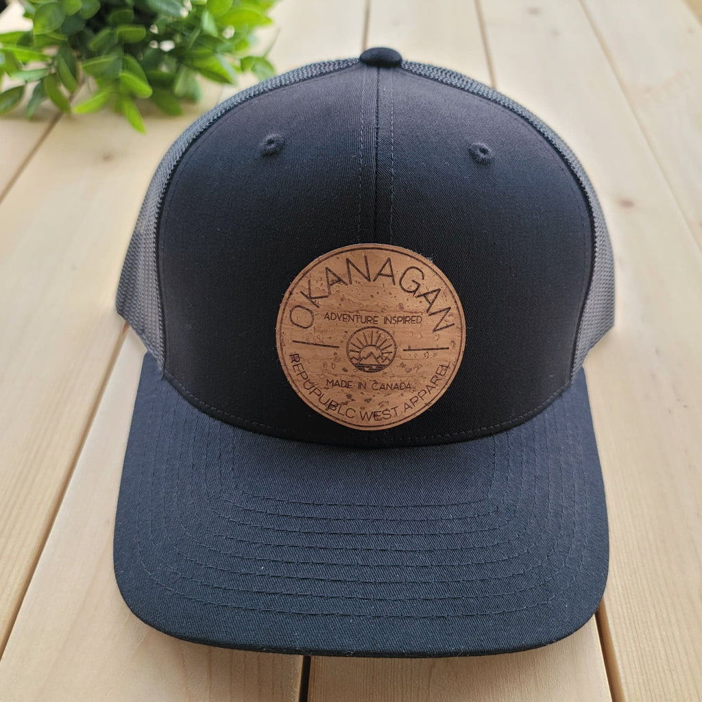 Okanagan Classic Cork Patch Trucker Hat - Black