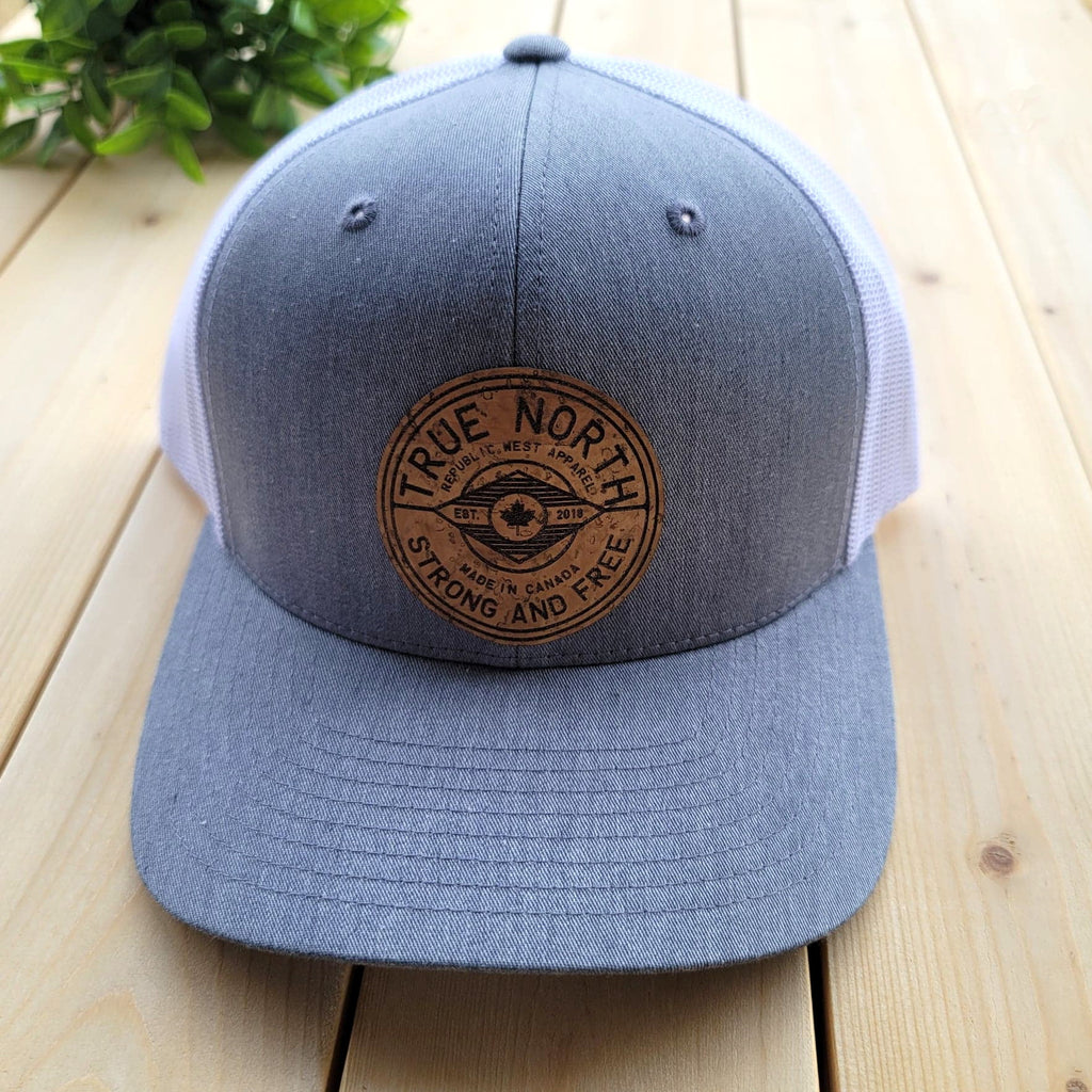 True North (Canada) Cork Patch Trucker Hat - Grey and White