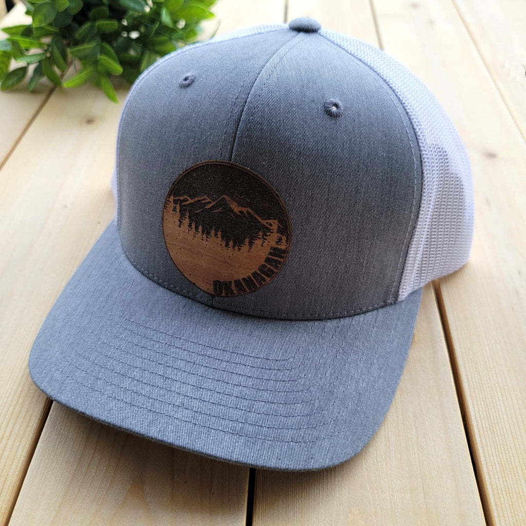 Okanagan Cork Patch Trucker Hat - Grey and White