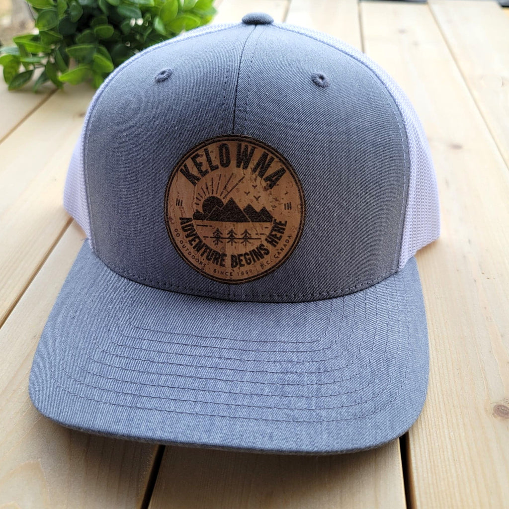 Kelowna Natural Cork Patch Trucker Hat - Grey and White