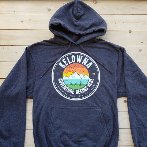 Kelowna Logo Hoodie - Charcoal - Republic West