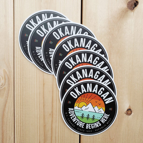 Okanagan Logo Sticker - Republic West