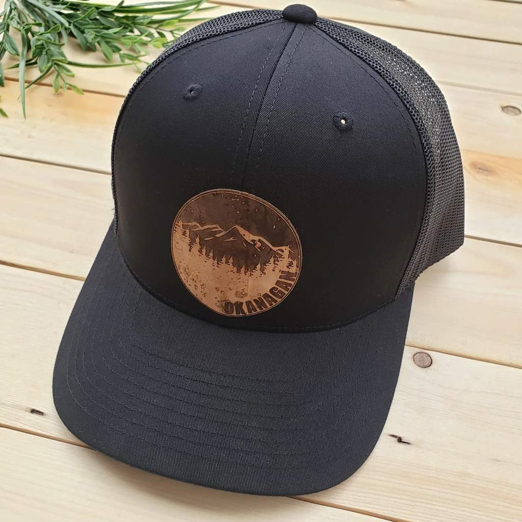 Kids Black Cork Patch Trucker Hat