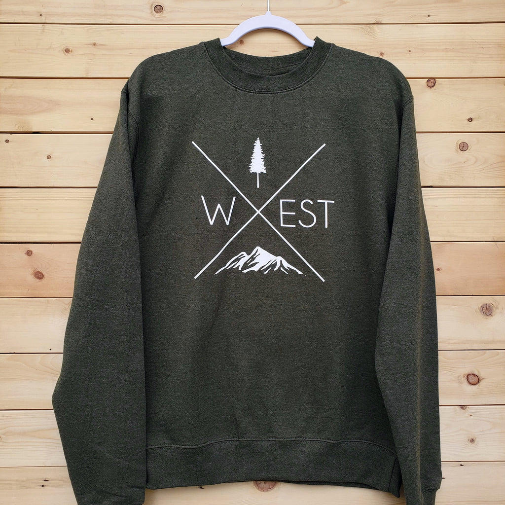 West X Crew Neck - Army Green - Republic West