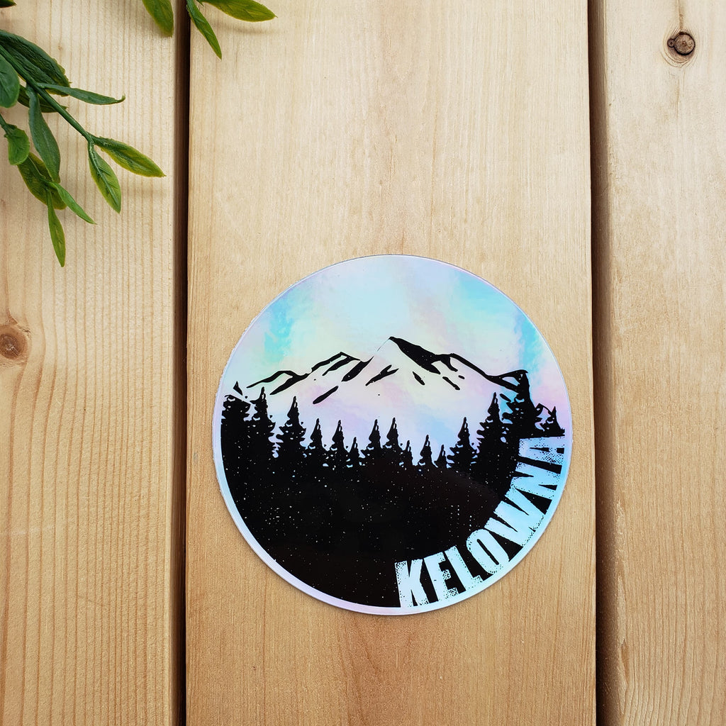 Kelowna Moon Holographic Sticker - Republic West
