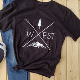 West X T-Shirt Black