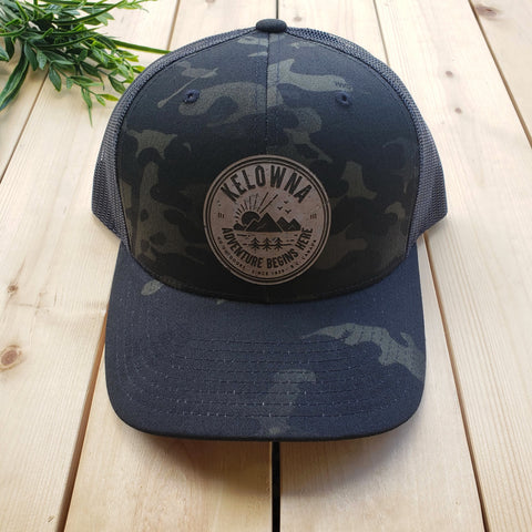Kelowna Cork Patch Trucker Hat (Black Camo - Multicam)