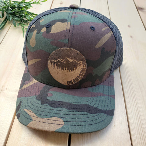 Okanagan Cork Patch Camo Trucker Hat (Green Camo)