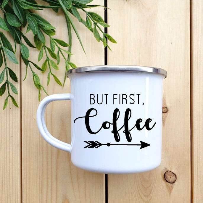 But First Coffee Camp Mug - Republic West