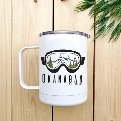 Okanagan Goggles Travel Coffee Mug - Republic West