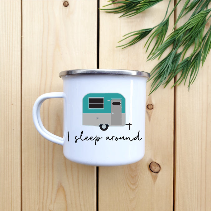 I Sleep Around Camp Mug - Republic West