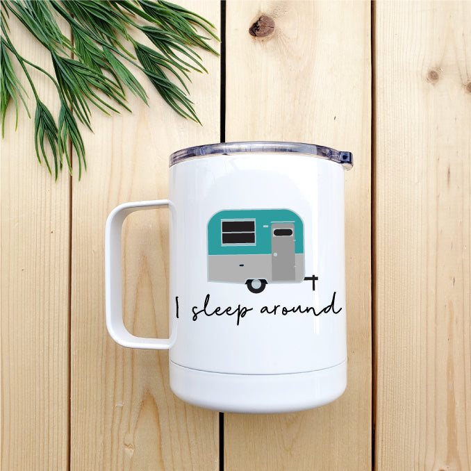 I Sleep Around Travel Coffee Mug - Republic West