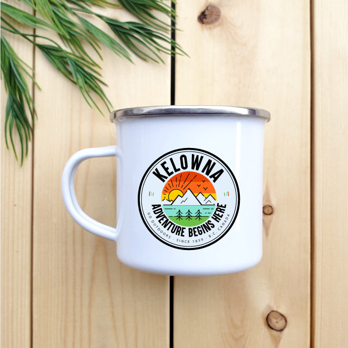 Kelowna - Adventure Begins Here - Camp Mug - Republic West