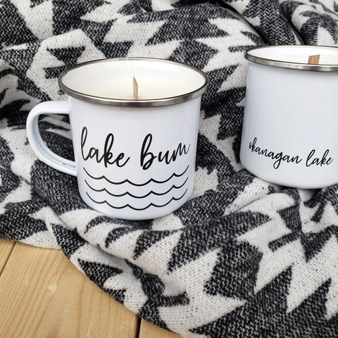 Camp Mug Candles - Lake Bum (Okanagan Lake)