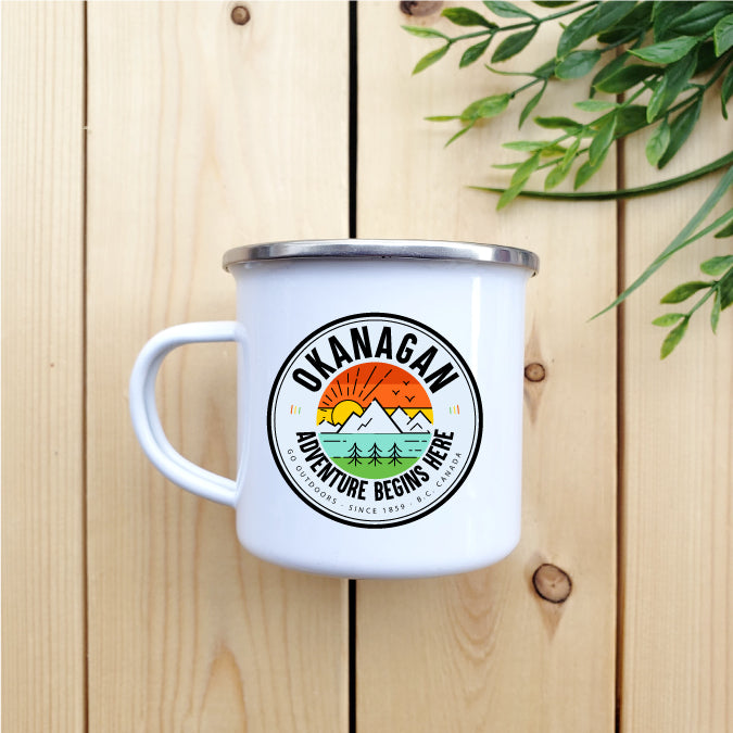 Okanagan - Adventure Begins Here - Camp Mug - Republic West