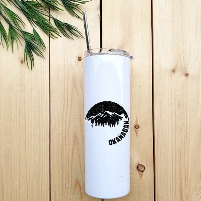 Okanagan Moon Skinny Tumbler with Straw - Republic West