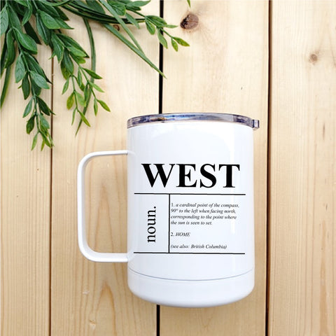 West (Definition) Travel Coffee Mug - Republic West