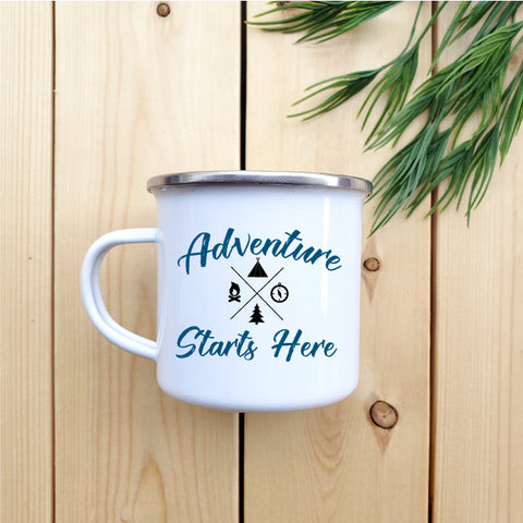 Adventure Starts Here Camp Mug - Republic West