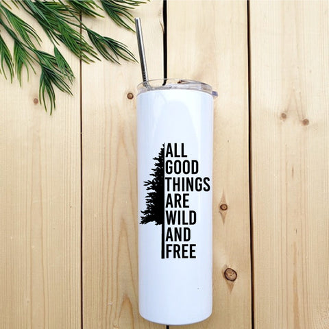 Wild & Free Skinny Tumbler - Republic West