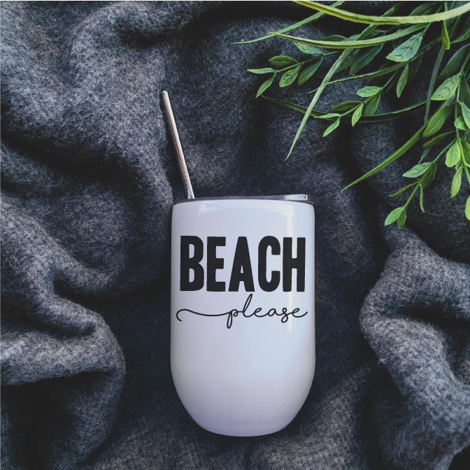 Beach Please Wine Tumbler - Republic West