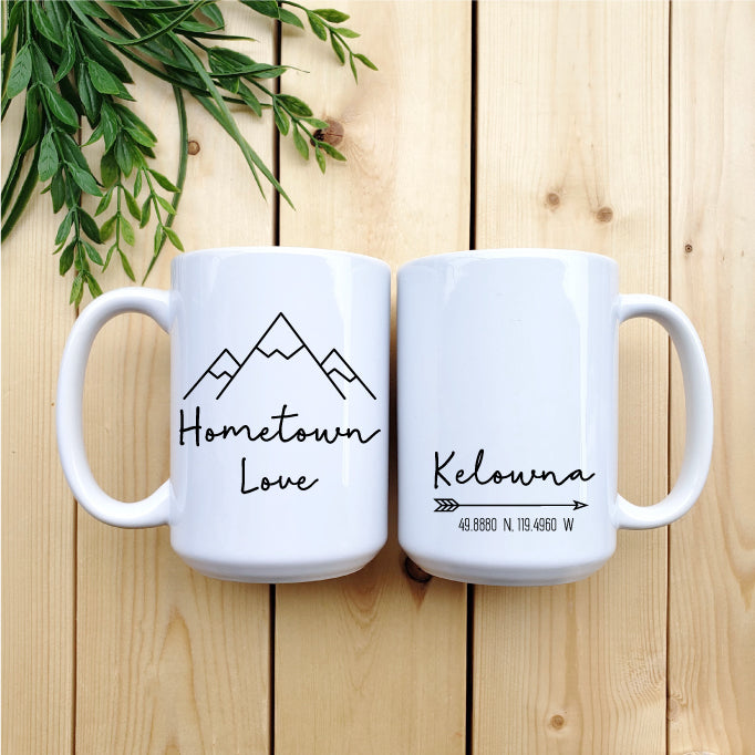Hometown Love (Custom Coordinates) Mug - Republic West
