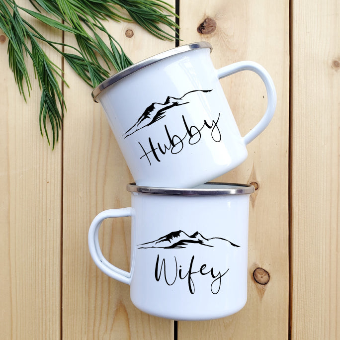 Hubby and Wifey Camp mug - Republic West