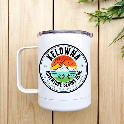 Kelowna Adventure Logo Travel Coffee Mug - Republic West