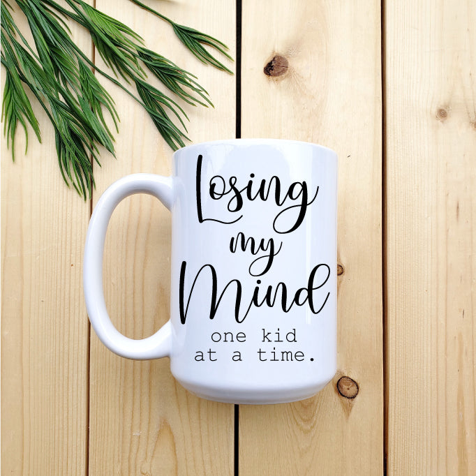 Losing My Mind One Kid at a Time Mug - Republic West