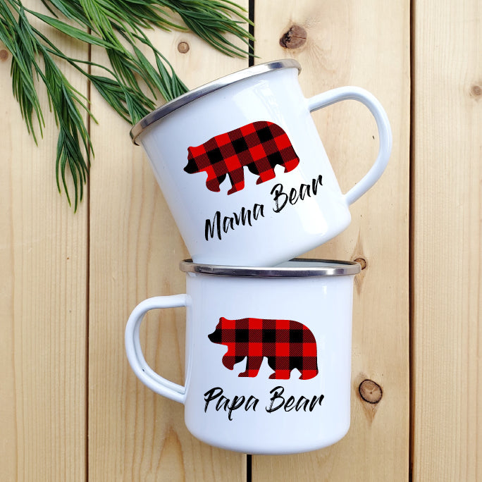 Mama and Papa Bear Camp mug - Republic West