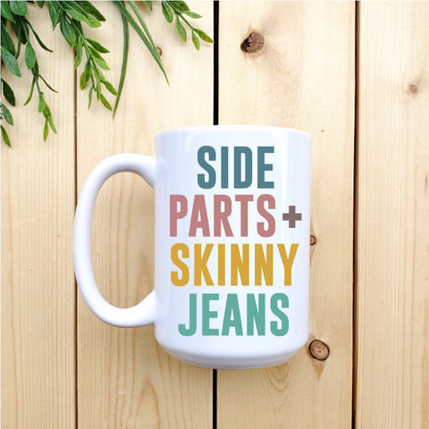 Side Part and Skinny Jeans Mug