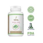 Omega-3 Fish Oil by Thrival Nutrition for Inflammation and Heart Health | Wild Caught | Natural Lemon Flavor - 90 ct. (1250 mg)