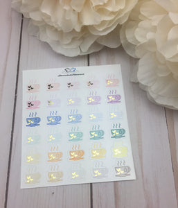 Foil  Tea Icons  Planner Stickers