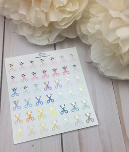 Foil Scissors Icons  Planner Stickers/ Foil Crafting Planner Stickers