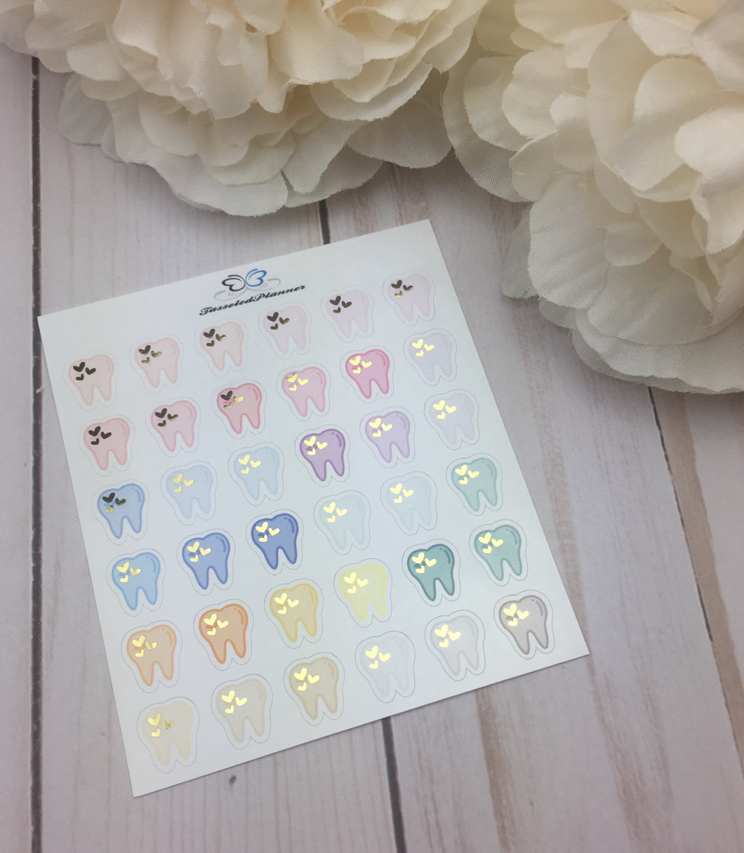 Foil  Dentist Appointment Icons  Planner Stickers/ Foil Teeth Planner Stickers