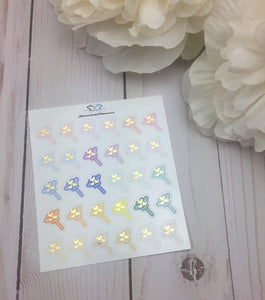 Foil Duster Icons  Planner Stickers/ Foil Cleaning Planner Stickers